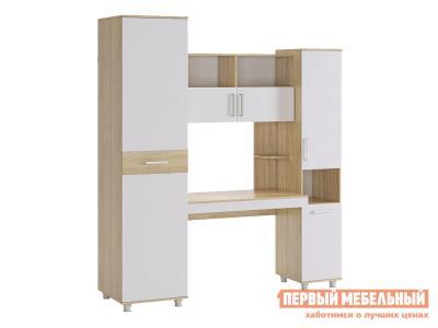 Компьютерный стол  Миллениум 2 SM-002.1623 Дуб сонома / Белый МебельСон. Цвет: белый
