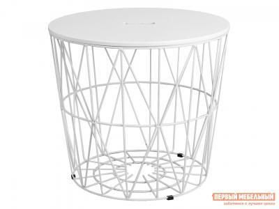 Журнальный столик  Стол JUMBO Белая МДФ / Белый металл Sedia. Цвет: белый