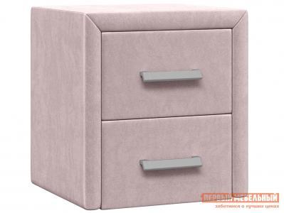 Прикроватная тумбочка  Тумба Женева Розовый, велюр Первый Мебельный. Цвет: розовый