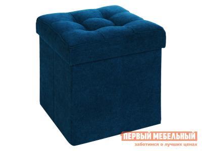 Пуфик  Фолд Синий, велюр DreamBag. Цвет: синий