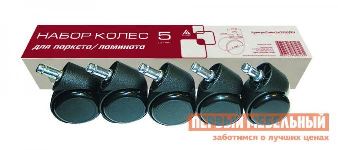 Набор колес  CastorSet3850/PU Черный Бюрократ. Цвет: черный