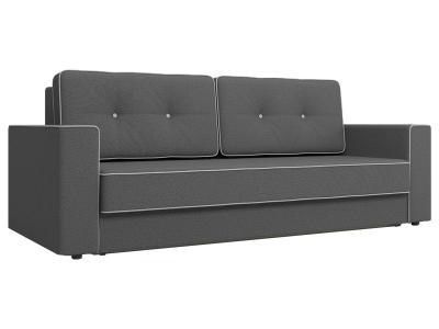 Прямой диван  Орландо Серый, рогожка Столлайн. Цвет: серый