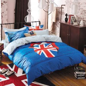 Комплекты постельного белья 7th AVENUE. Цвет: синий