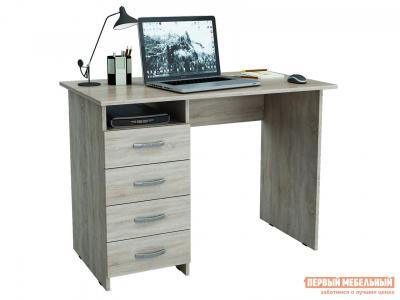 Компьютерный стол  письменный Милан (0120) Дуб Сонома МФ Мастер. Цвет: светлое дерево