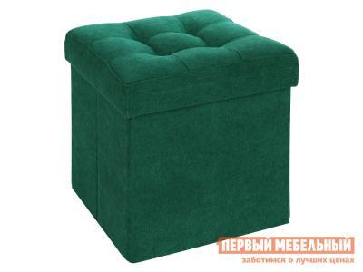Пуфик  Фолд Зеленый, велюр DreamBag. Цвет: зеленый
