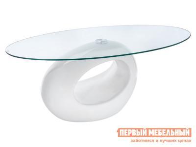 Журнальный столик  11444 стол Orfeo Стекло, прозрачный / Белый, пластик Лайфмебель. Цвет: белый