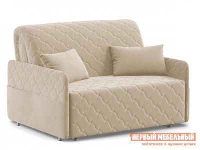 Прямой диван  Тино / Люкс Бежевый, велюр, 120х200 см, Независимый пружинный блок Живые диваны. Цвет: бежевый