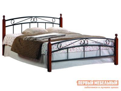 Односпальная кровать  АТ-8077 Гевея / Металл Tetchair. Цвет: черный
