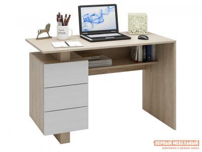Письменный стол  Ренцо-2 Дуб сонома / Белый МФ Мастер. Цвет: светлое дерево