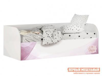 Детская кровать  Трио (с подъёмным механизмом) КРП-01 Белый, рапунцель, Без бортика, мягкой спинки, Тиффани, велюр BTS. Цвет: белый