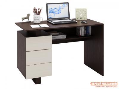 Письменный стол  Ренцо-2 Венге / Дуб Молочный МФ Мастер. Цвет: темное-cветлое дерево