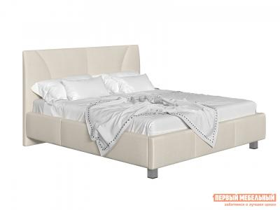 Двуспальная кровать  с подъемным механизмом Севилья Бежевый, рогожка, 140х200 см Первый Мебельный. Цвет: бежевый