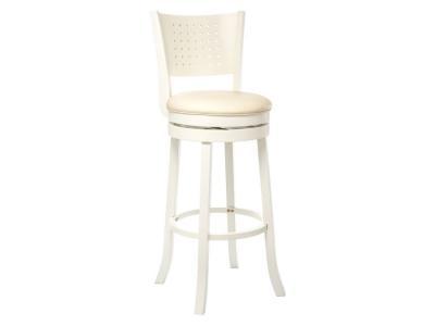 Барный стул  Linda Кремовый, кожзам / Белый Лайфмебель. Цвет: белый