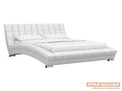Двуспальная кровать  Оливия Белый, экокожа, 1800 Х 2000 мм НижегородмебельИК. Цвет: белый