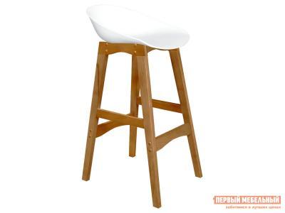 Барный стул  SHT-ST19/S65 Белый, пластик / Светлый орех, массив бука Sheffilton. Цвет: белый