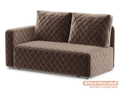 Прямой диван  Мортон Люкс 1 Коричневый, велюр, Левый Живые диваны. Цвет: коричневый