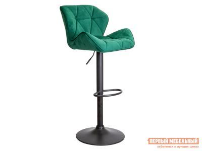 Барный стул  BERLIN Зеленый, велюр / Черный, металл Sedia. Цвет: черный