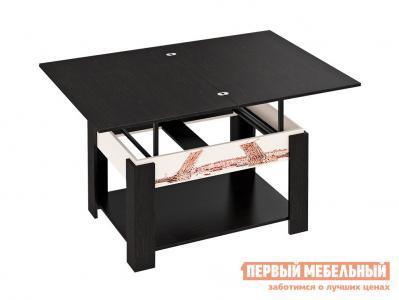 Журнальный столик  Тип 6 Венге Цаво / Молочный дуб ТриЯ. Цвет: темное-cветлое дерево