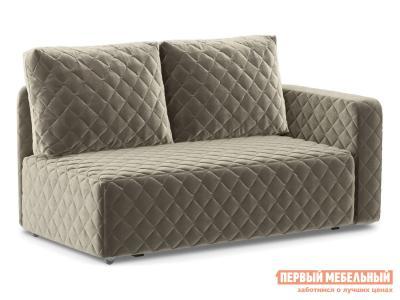 Прямой диван  Мортон Люкс 1 Бежевый, велюр, Правый Живые диваны. Цвет: бежевый