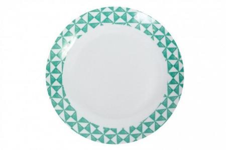 Тарелка обеденная Geo Green Hoff