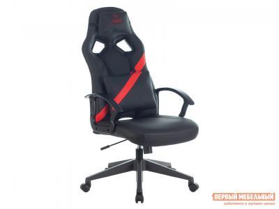 Игровое кресло  ZOMBIE DRIVER Черный, иск. кожа / Красный, Бюрократ. Цвет: черный