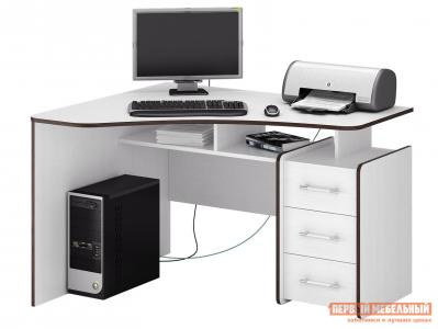 Компьютерный стол  Триан-5 Белый, Левый МФ Мастер. Цвет: белый