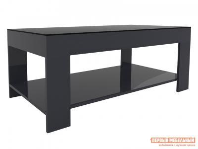 Журнальный столик  BeautyStyle 26 Графит / Стекло черное Мебелик. Цвет: серый
