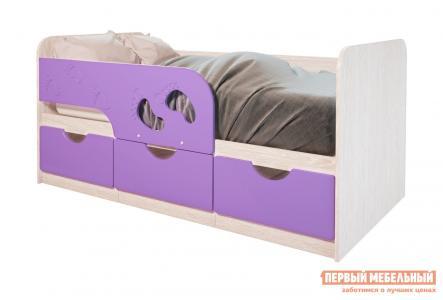 Детская кровать  Лего 1 Дуб Атланта / Лиловый сад BTS. Цвет: фиолетовый