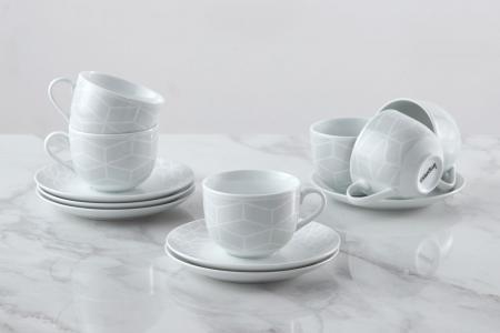 Набор чайных пар на 6 персон Аmeli IMPRESS