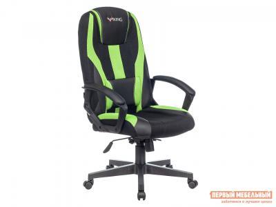 Игровое кресло  VIKING-9 Черный, экокожа / Черно-салатовый, сетка Бюрократ. Цвет: черный