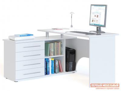 Компьютерный стол  КСТ-109 Белый, Левый Сокол. Цвет: белый