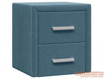 Прикроватная тумбочка  Тумба Женева Синий, микровелюр Первый Мебельный. Цвет: синий