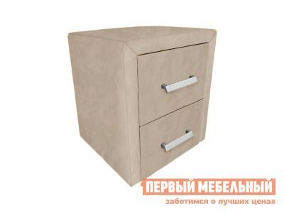 Прикроватная тумбочка  Тумба Женева Кремовый, велюр Первый Мебельный. Цвет: бежевый