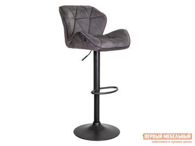 Барный стул  BERLIN Темно-серый, велюр / Черный, металл Sedia. Цвет: серый