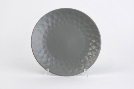 Тарелка десертная 19,5 см Diamond Hoff. Цвет: серый