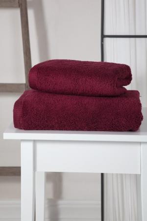 Полотенца Karna. Цвет: бордовый