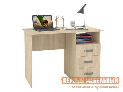 Компьютерный стол  письменный с ящиками 1100 Дуб сонома БОНмебель. Цвет: светлое дерево