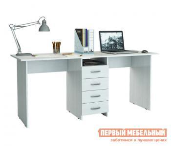 Компьютерный стол  для двоих Тандем-2 (0120) Белый МФ Мастер. Цвет: белый