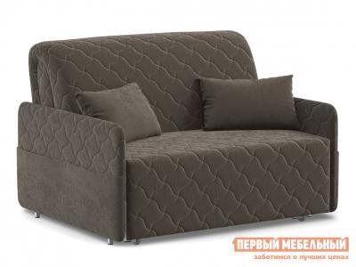 Прямой диван  Тино / Люкс Коричневый, велюр, 120х200 см, Пенополиуретан Живые диваны. Цвет: коричневый