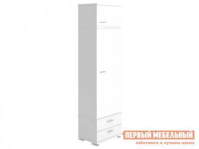 Распашной шкаф  КС-10 Белый жемчуг, Без полок Мэрдэс. Цвет: белый