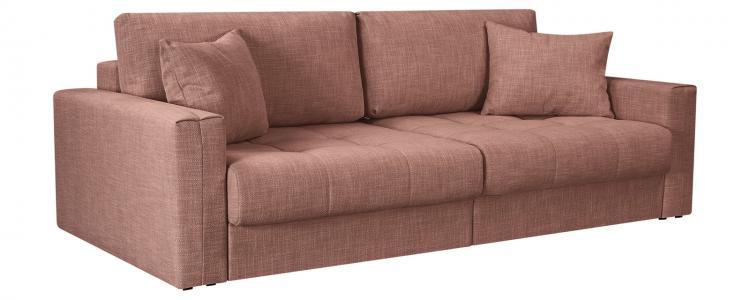 Модульный диван Брайтон вариант №1 Nobilia розовый (Рогожка) HomeMe. Цвет: розовый