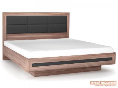 Двуспальная кровать  с подъемным механизмом Модена Ясень шимо темный / Антрацит, 1600 Х 2000 мм КУРАЖ. Цвет: коричневое дерево