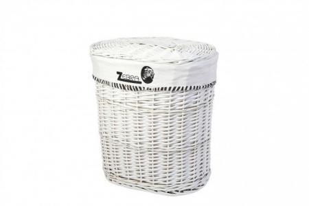 Корзина для белья с крышкой HQA18-9C Hoff. Цвет: белый, чёрный