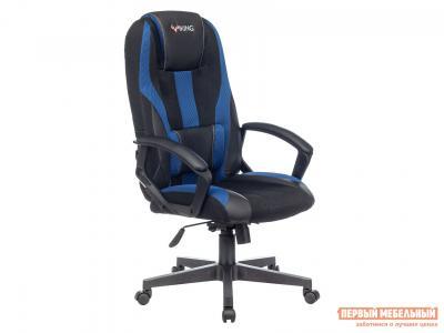 Игровое кресло  VIKING-9 Черный, экокожа / Черно-синий, сетка Бюрократ. Цвет: черный