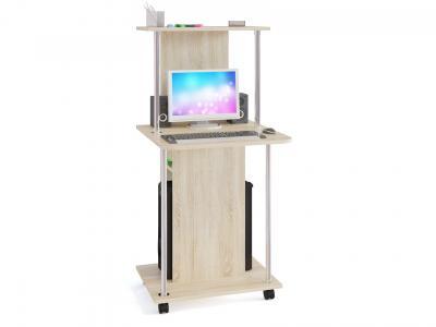Компьютерный стол  КСТ-12 Дуб Сонома Сокол. Цвет: светлое дерево
