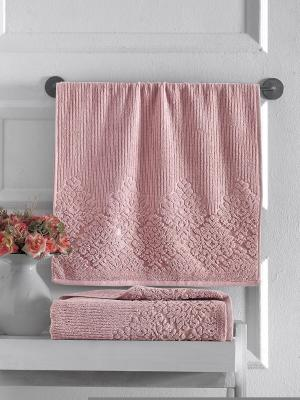 Полотенца Karna. Цвет: розовый