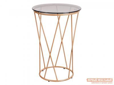 Журнальный столик  Стол ALLURE Тонированное стекло / Золото, 600 х 400 мм Базистрейд. Цвет: бежевый
