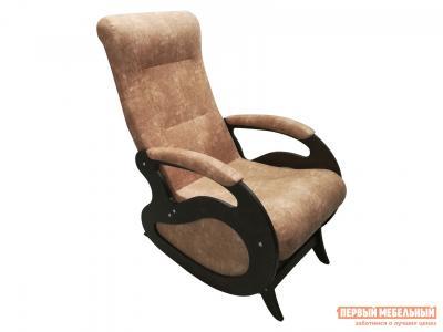 Кресло-качалка  Маятник Серо-коричневый, рогожка / Темный орех Мебвилл. Цвет: серый