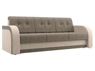 Прямой диван  Риккардо Бежевый / Серый, велюр Столлайн. Цвет: серый