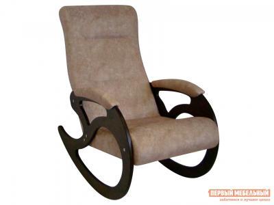 Кресло-качалка  Венера Серо-коричневый, рогожка / Темный орех Мебвилл. Цвет: серый